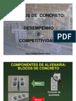 Blocos Concreto Desempenho Competitividade Claudio Oliveira
