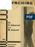 Haywood & Howard - Lynching; A Weapon of National Oppression (1932)