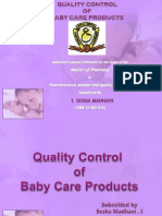 QC of Baby Care Products
