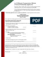 Edited 2013 Scholarship App COMTO Scholarship Application