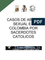 Casos de Abuso Sexual en Colombia por Sacerdotes Catolicos - Abril 2013