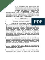 Formato de Contrato Juridico