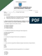 Diagnóstico de 7mo basico geometría