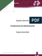 Procedimiento Desarrollado Fundamentos de Administracion