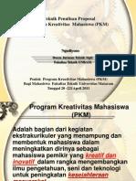 Teknik Penulisan Proposal pkm