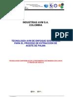 Extraccion de Aceite Rojo AVM