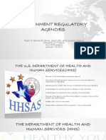 Government Regulatory Agencies- HHS