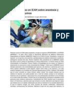 Realizan curso en ICAH sobre anestesia y cirugía en equinos