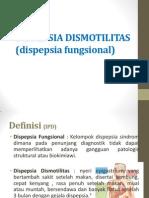 dispepsia fungsional dismotilitas