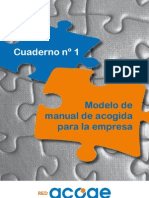 Modelo de Manual de Acogida Para La Empresa