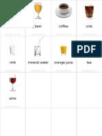 Flashcards Drinks Pinyin