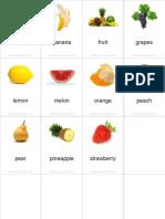 Flashcards Fruits Pinyin