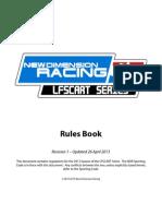 LFSCART 2013 Rules Book