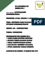 Criterios Para Evalucacion de Estudios Epidemiologicos