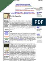 Catholic Encyclopedia Jewish Calendar