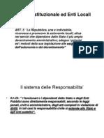 Carta Costituzionale e Diritto Degli Enti Locali