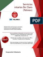 Servicios Suplementarios De Claro (Telmex).pptx