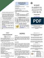 Church Newsletter - 07 April 2013