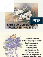Significado Familia en Ingles
