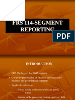 Frs 114-Segment Reporting for acc 4001