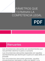 Parámetros que determinan la competencia legal