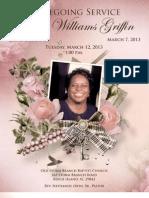 Gloria Griffin Funeral Program