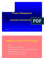 MS Project Step by Step Guide