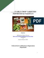 VEGETABLE CROP VARIETIES IMPORTED in PAKISTAN