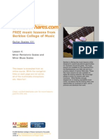 Berklee Guitar Scale Fingering
