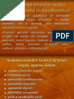 Acţiunea toxicelor asupra organismului (toxicodinamica)