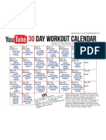 Youtube Workout Calendar