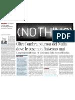 Anteprima di «Intorno al senso del nulla», di Emanuele Severino - Il Corriere della Sera 17.04.2013