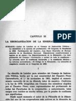 Galdames - Reorganización de la escuela nacional