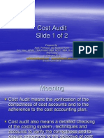 Cost Audit 1 of 2