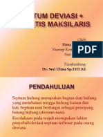 Septum Deviasi + Sinisitis Maksila