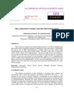 Pre-Assessment Model for Erp Implementation