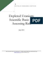 Depleted Uranium in Bosnia