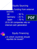 Sources of Funding-Equity (s)
