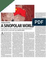 A Sinopolar World BUsiness Standard Septmber 12, 2011