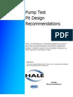 Pump Test Pit Design