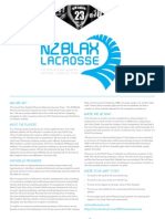 NZBLAX Sponsorship and Partnership Information Pack 2013