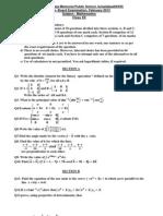 Maths XII II Pre Board