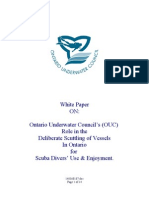 Ouc White Paper on Deliberate Vessel Scuttling 2006-12-12