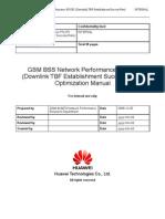 61607894 52 GSM BSS Network PS KPI Downlink TBF Establishment Success Rate Optimization Manual