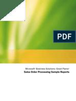 AX Sales Order Processing