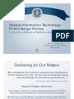 2014 Budget Priorities 20130410