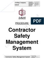 Contractor Safety Management Process Safety Risk