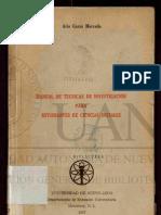 Manual de técnicas de investigación