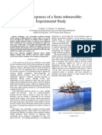Motion Reponses of a Semi-Submersible Experimental Study