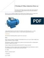 Construction and Working of 3 Phase Induction Motor